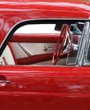 Classic Red Car. Close-up Royalty Free Stock Photos