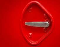 Classic red car handle Stock Image