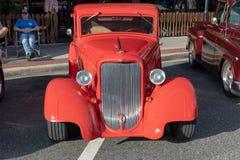 Free Classic Red Car Looks Like ZZ Tops` Eliminator. Stock Photos - 126939533
