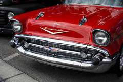 Classic red car. Classic Old red car Stock Photography