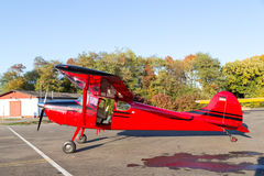 Classic red Cessna 170 aircraft Royalty Free Stock Image