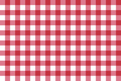 Classic red checkerboard Chequer seamless pattern for textile, paper print. Vector illustration. Royalty Free Stock Images