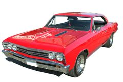 Classic Red Chevelle Isolated Stock Photo