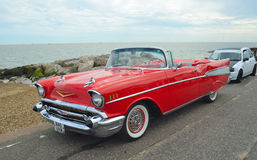 Classic Red Chevrolet Belair convertible Royalty Free Stock Photos
