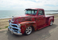 Classic red Chevrolet pickup truck Royalty Free Stock Image