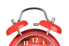 Classic red clock Stock Photo