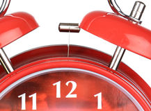 Classic red clock Royalty Free Stock Images