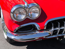 Classic red Corvette details Stock Photo