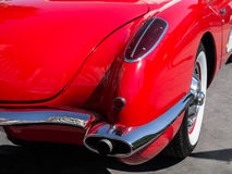 Classic red Corvette details Royalty Free Stock Image