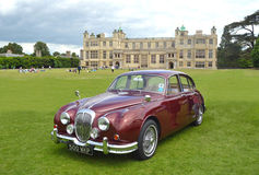 Classic Red Daimler 250 V8 Royalty Free Stock Image