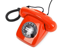 Classic red dial phone Stock Photography