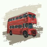 Classic red double decker bus Stock Image