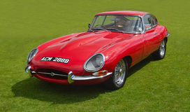 Classic Red E - Type Jaguar Royalty Free Stock Image