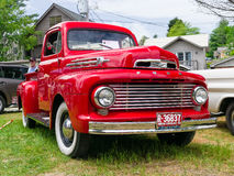Classic Red Ford Truck Royalty Free Stock Images