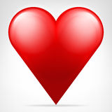 Classic red heart icon isolated vector Royalty Free Stock Photo