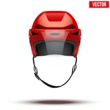 Classic red Ice Hockey Helmet with glass visor Royalty Free Stock Photo