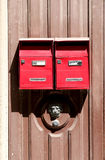 Classic red letterboxes Royalty Free Stock Photo