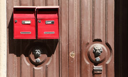 Classic red letterboxes Royalty Free Stock Image