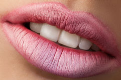 Classic red lips Royalty Free Stock Images