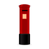 Classic red mailbox Royalty Free Stock Images