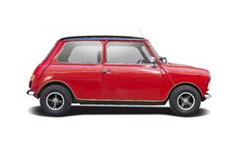 Classic red mini cooper Royalty Free Stock Image