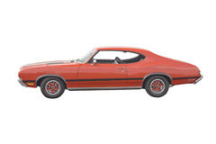 Classic red muscle Car Royalty Free Stock Image