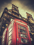 Classic Red Phonebox In Edinburgh Royalty Free Stock Photography