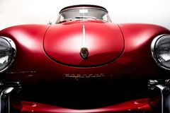 Classic Red Porsche Car Royalty Free Stock Images
