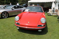 Classic red Porsche sports car Royalty Free Stock Image