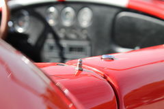 Classic red racing car detail Royalty Free Stock Photos