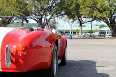 Classic red racing car Stock Images