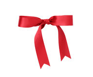 Classic red ribbon bow Royalty Free Stock Photos