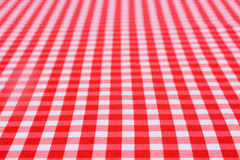 Classic red table cloth Stock Photography