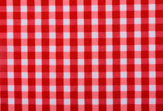 Classic red table cloth Stock Photo