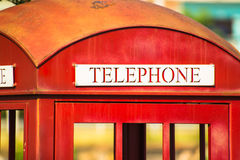 Classic red telephone booth Royalty Free Stock Photography