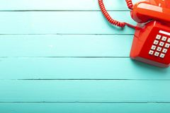 Classic red telephone royalty free stock image