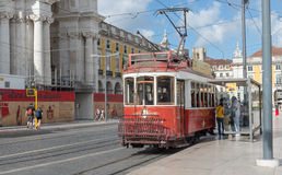 Classic red tram of Lisbon, Portugal Royalty Free Stock Image