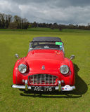 Classic Red Triumph TR3 sports car Royalty Free Stock Photos