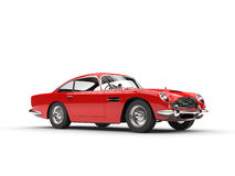 Classic red vintage car - studio shot Stock Images