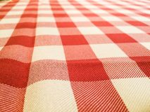 Classic Red and White Picnic Table Cloth Royalty Free Stock Photos