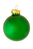 Classic reflective christmas ornament - green Stock Image