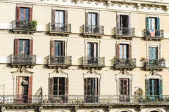 Classic residential building, Barcelona Royalty Free Stock Photos