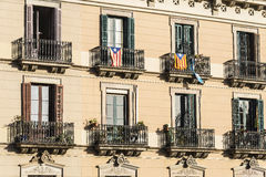 Classic residential building, Barcelona Royalty Free Stock Photography