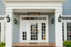 Classic Residential entrance Stock Photo