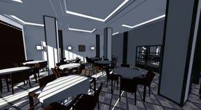 Classic restaurant interior Stock Photo