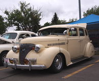 Classic Restored Beige Chevrolet Royalty Free Stock Photography