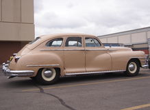 Classic Restored Beige Chrysler Royalty Free Stock Images