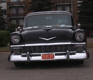 Classic Restored Black Sedan Royalty Free Stock Photography