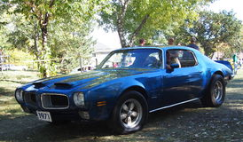 Classic Restored Blue Pontiac Firebird Formula 400 Royalty Free Stock Photo