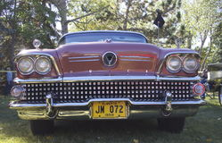 Classic Restored Burgundy Buick Stock Images
